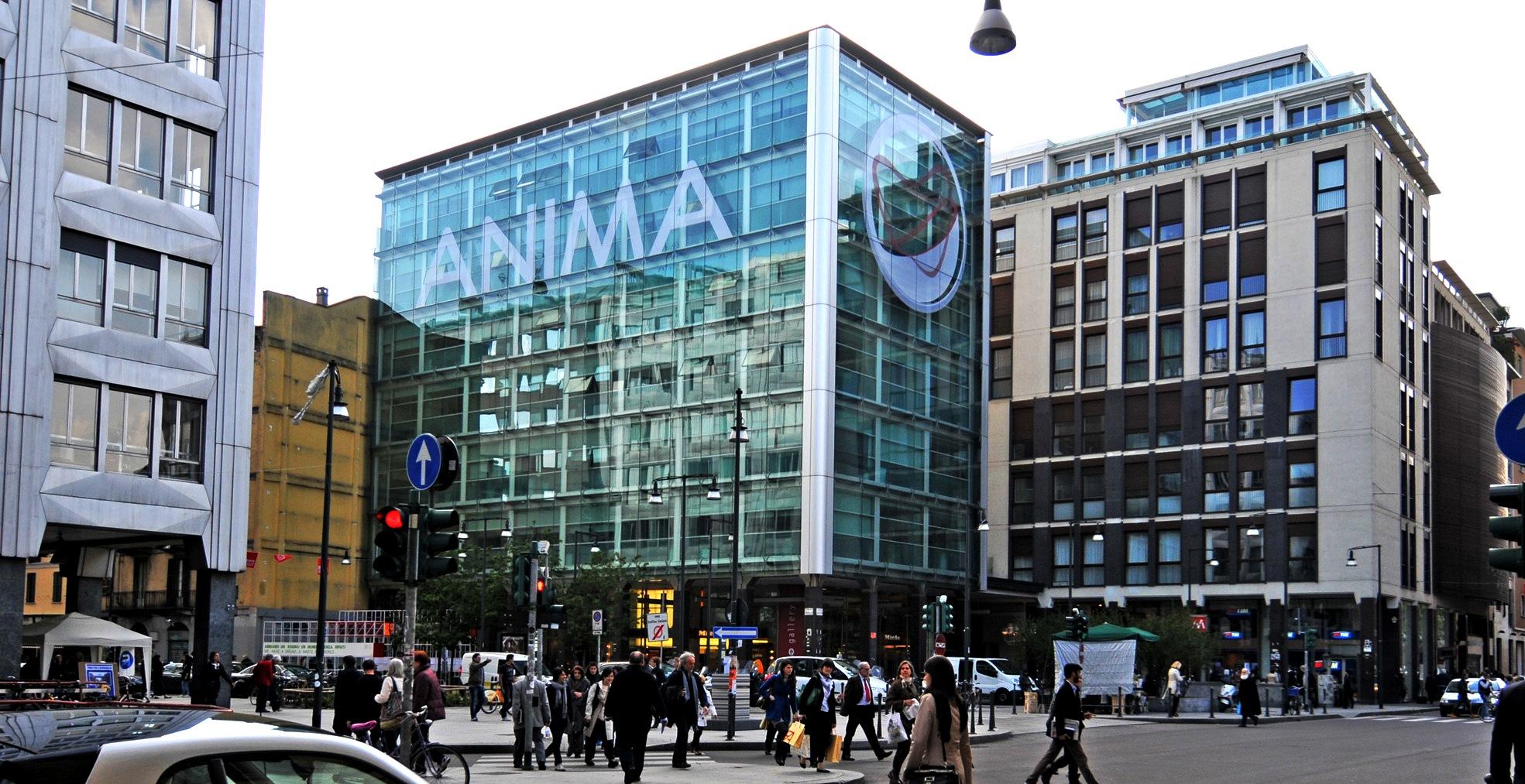 L'edificio di Anima holding a Milano, che ha annunciato il nuovo amministratore delegato